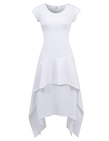 NEARKIN - Robe - Moderne/ajusté - Solid - Manches 3/4 - Femme - blanc - X-Small