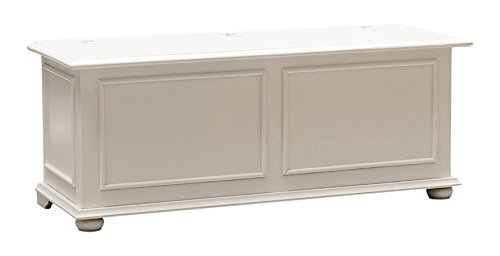 Pieffe Mobili Cassapanca cipolla contenitore, legno bianco, 120 x 42 x 50 h
