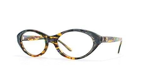 Emmanuelle Khanh Damen Brillengestell Grau Grau/Orange