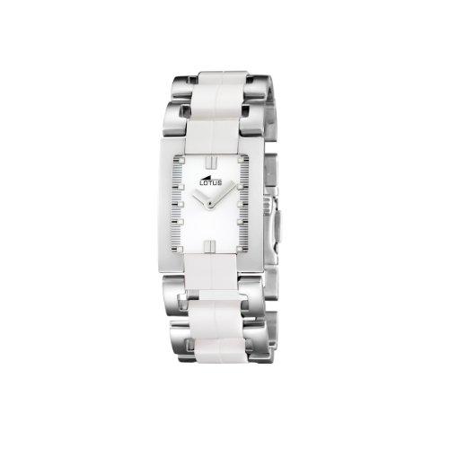 Lotus 15595/1 - Reloj de Mujer de Cuarzo, Correa de cerámica Color Blanco