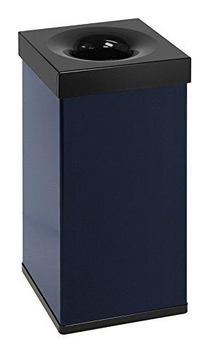 Carro Flame Papierkorb 55 Liter, Farbe:Blau/Schwarz