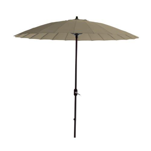 Garden Impressions 11076 Manilla Sonnenschirm Durchmesser 250 cm, Royal grau/taupe