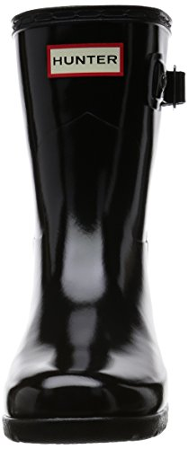 Hunter Damen Original Refined Short Gloss Gummistiefel Schwarz (Black)