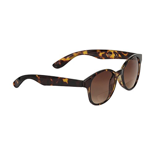 Babsee Kate Our Most Stylish Bifocal Reading Glasses for Women - Magnification Thickness 1.0-3.0 (Brown tortoise, 2.5)