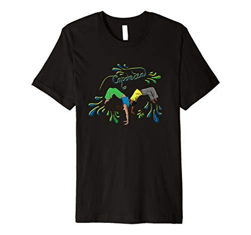 Capoeira T-Shirt Brasilien-Farben für Kinder und Erwachsene