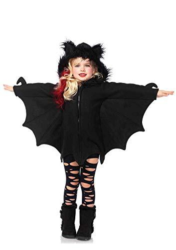 Leg avenue - costume per travestimento da pipistrello, bambina, colore: nero, m (7-9 anni)