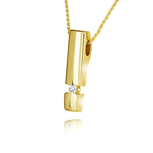 Diamond Line Damen - Halskette 585er Gold 1 Diamant ca. 0,05 ct, gelbgold
