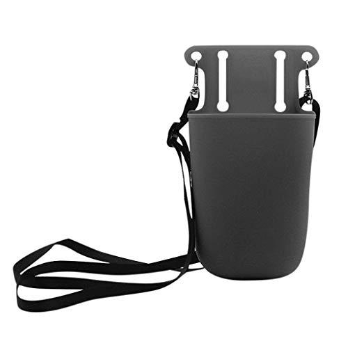 Makalon Silikon-Werkzeugtaschen-Aufbewahrungstasche für Schönheits-Friseur-Gartengeräte, kleine dauerhafte Wartung und Tasche für Werkzeuge, Taschenlampe, Schlüssel. (Grau)