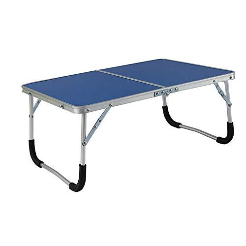 Aszhdfihas Tisch Computertisch - 61/43 / 27cm Pulver Grün, Aluminiumlegierung, Geeignete Jugendliche für Outdoor Camping Picknick (Farbe : Blau)