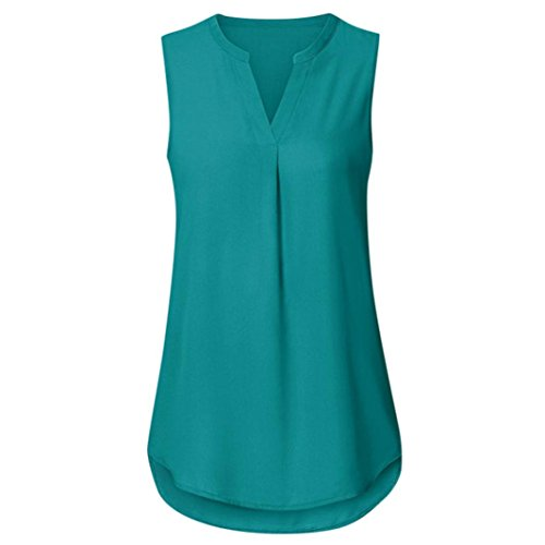 op Tops Vest Tanktops Weste Cami DOLDOA Oberteile T-Shirt Geburtstags Geschenk Für Frauen Mädchen Freundin (EU:38, Grün - 15) (Beste Freundin Katze Kostüme)