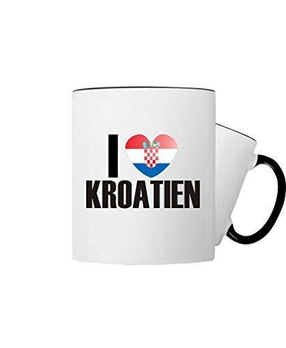 Shirtinstyle Kaffeepott, Kaffeetasse, Tasse, I love Kroatien, Farbe schwarz