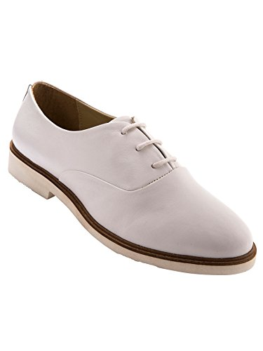 Balsamik - Derby pelle suola bianca, grande larghezza - - Size : 36 - Colour : Bianco