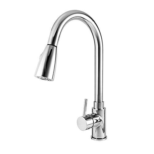 Wasserhahn ICOCO 360°Schwenkbereich Einhebel Wasserhahn Küchenarmatur Einhandmischer Spüle Küche mit herausziehbarem Brausekopf Armatur -