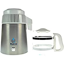 Destilador de agua Megahome en acero inoxidable, con caño de porcelana y jarra de vidrio