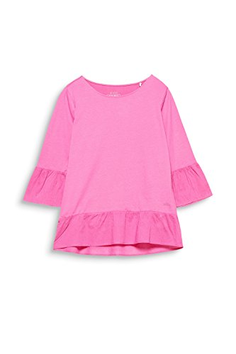 edc by ESPRIT Damen Langarmshirt Rosa (Pink Fuchsia 660)
