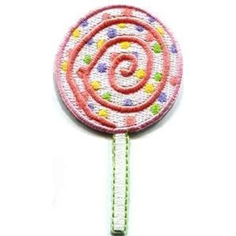 Fancy Sweet Lollipop Candy Kid Appliques Hat Cap Polo Backpack Clothing Jacket Shirt DIY Embroidered Iron On / Sew On Patch by BKKPatch
