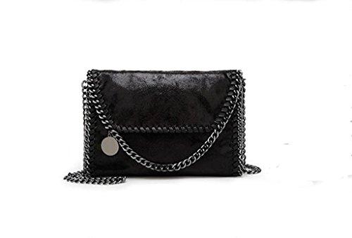 Nuove borse, spalla casuale, messaggero, sacchetto chain black