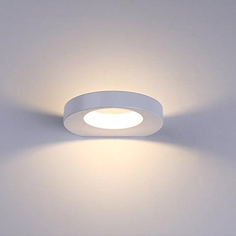 Lanfu elegante lampada da parete bianco caldo di disegno moderno lampada a LED da parete lampada ideale per camere da letto, soggiorno, scala e sale a 10 W, 180 * 157 *