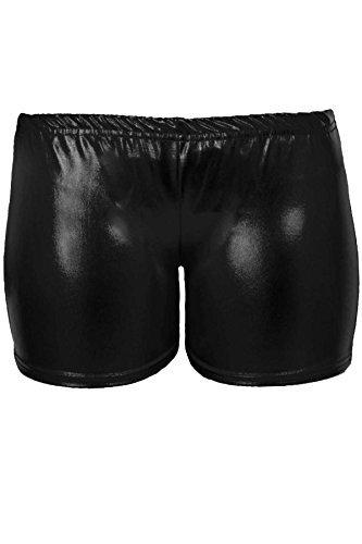 Sapphire - ragazza Stretch pantaloncini da ginnastica danza Hot Pants metallizzato