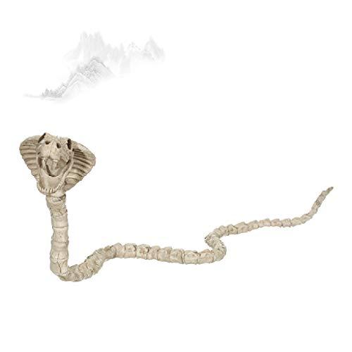 Sisyria Halloween-Skelett-Dekorationen, Schlangen-Skelett-Fossilien Scary Halloween Decoraive Bone für Halloween-Partys - Niedliche Kostüm Für Paare Billig