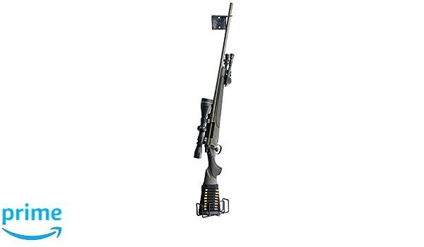 01f6123306ad7 Pistolet Boomstick Accessoires Boom-10022 Support n'importe où Simple Fusil  de Chasse Fusil avec revêtement Vinyle en métal de Pistolet - Noir: Amazon.fr:  ...