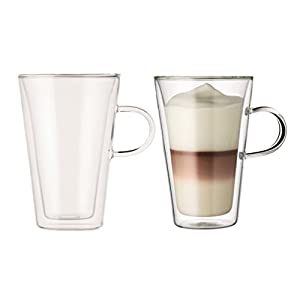 Bodum Canteen Double Walled Thermo Glasses with Handles, Set of 2