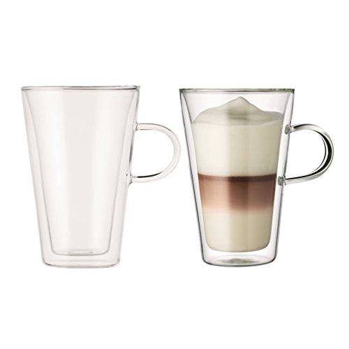Bodum CANTEEN 2-teiliges Gläser-Set (Doppelwandig, Isoliert, Spülmaschinengeeignet, 0,4 liters) transparent