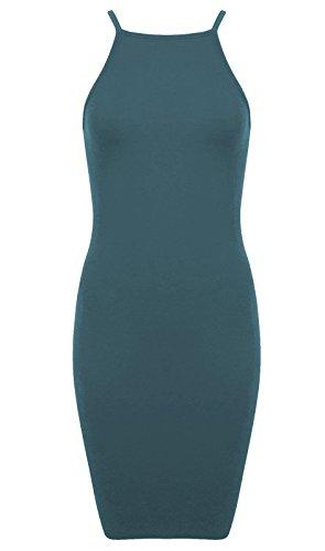 Generic - Robe - Crayon - Sans Manche - Femme Multicolore Bigarré Taille Unique Bleu-vert