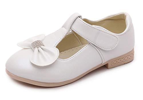 VECJUNIA Mädchen Süß Weiche Sohle Mit Schleife Performance Schuhe Mary Jane Weiß 26 EU