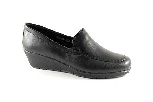 GRUNLAND ISEO SC1543 nero scarpe donna pelle zeppetta 38