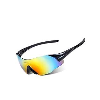 HXD Ski Sunglasses, Gafas de Bicicleta Gafas de Sol a Prueba de Viento Gafas de protección UV Gafas de PC Que cambian de Color Gafas Deportivas