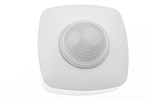HUBER MOTION 30, Bewegungsmelder 360°, weiß, energieeffizient, Präsenzmelder hochsensibel durch 3 Sensoren und Matrixlinsen