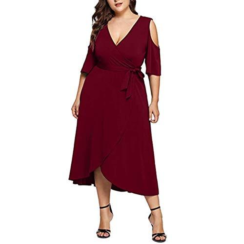 sschnitt Trägerlose Ärmel Seidenstoff Klassische Bluse Mit Einem Gladiator Wind Hüftgurt (Color : Rot, Size : X-Large) ()