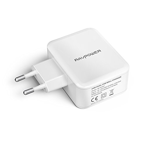 caricatore tablet RAVPower Caricatore USB da Muro a 2 Porte