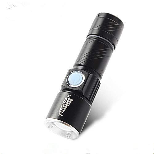 Led Mini Blendung Taschenlampe, einziehbare USB-Ladelampe, Outdoor super helle Langstreckenbeleuchtung Zoom kleine Taschenlampe -