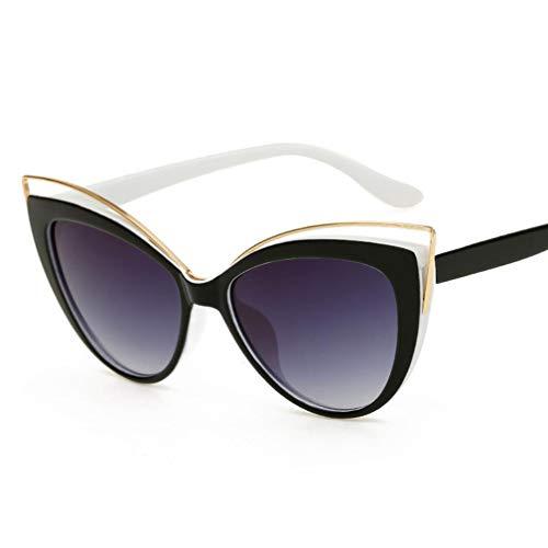 Retro Sonnenbrille für Damen, mit stilvollem großem Rahmen Runde Vintage Eyewear 100% UV Protection Eyewear,C