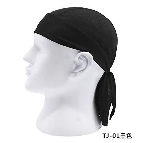Egurs Sport Kopftuch schnell trocknend Piratenstirnband Bandana Caps für Frauen Herren Radfahren Klettern Angeln Wandern Motorradfahren Laufen schwarz schwarz