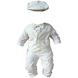 Sixforkids - Ropa de Bautizo - para bebé niño Weiß 12 Meses