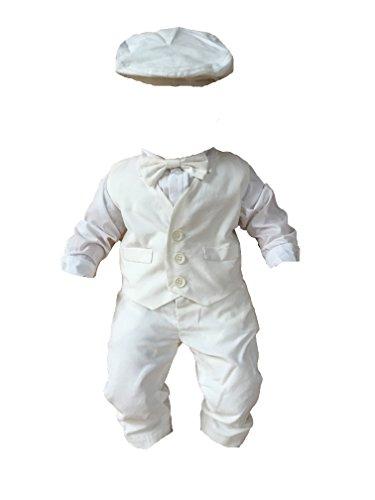Taufanzug Festanzug Hochzeitanzug Weiß Set 5 Tlg (74)