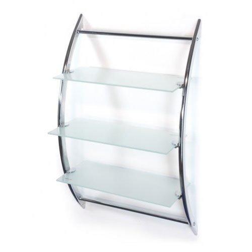 Hochwertiges Badregal-Wandregal-Badregal, Wandregal,Größe: 45*28*70cm Glasregal mit 3 Glasablagen-Milchglas-AWD Design AWD02050026-NEU 2017