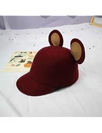 XDXDWEWERT Sombreros y Gorras Otoño e Invierno Sombrero de Lana de Mickey  Orejas Equitación Niños Cute Mickey Mouse Big Ear Cap… c480b12bdd8