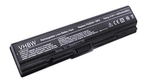 vhbw Batterie LI-ION 4400mAh 10.8V Noire/Black pour Toshiba Satellite L550, L555, L555D, L 550 555 555D D, M200, M205, M 200 205