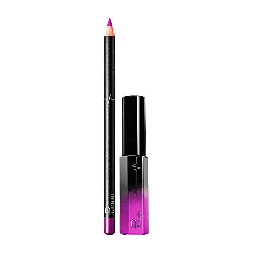 (DEELIN Lippenstift, Mode Neu Langlebiger Lippenstift Wasserdichter Mattflüssigkeitsglanz Lippenzwischenlagen Kosmetik Wasserdicht)