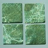 MosaixPur 10x 10x 4mm 200g 205-piece Naturstein Mosaik Fliesen, dunkelgrün