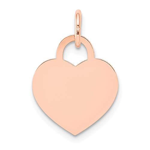 Rose Gold klein Gravierbares Herz Charme ()