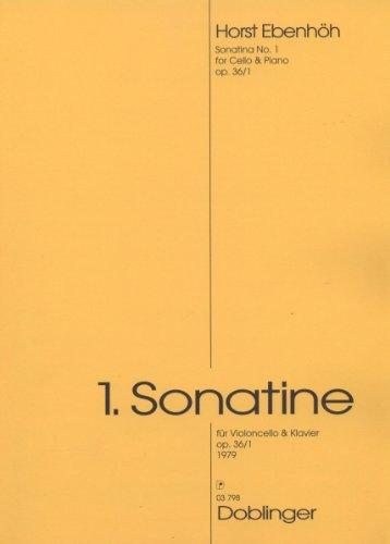 """""""Erste Sonatine"""" Op. 36/1, Ausgabe für Violoncello und Klavier von Horst Ebenhöh"""