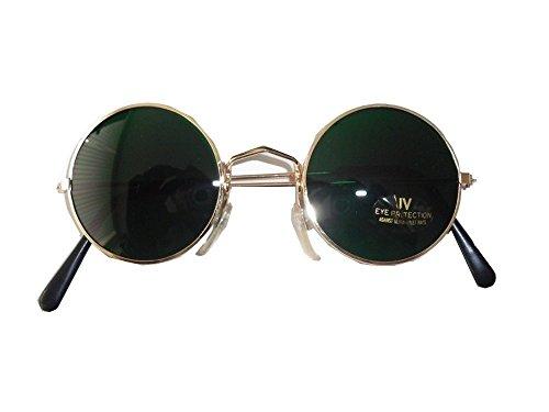 Sonnenbrille Lennon Brille Nickelbrille * Glas GRÜN * 60 er 70er Hippie Flower ()