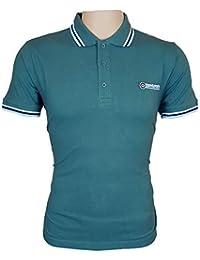 Lambretta - Camisa Casual - Clásico - Manga Corta - para Hombre Azul Tapestry Blue/