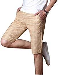 CTOOO Eis Seide Leinen Shorts Herren Sommer Hosen Slim Casual Kurze Hose c4097b9a16