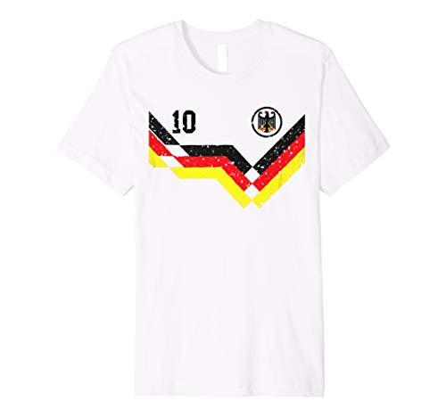 af17b85e2ff Retro Germany Soccer Jersey Deutschland T-Shirt 1990